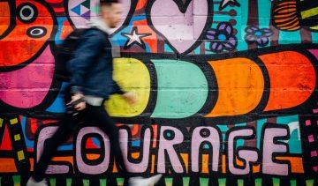 man-wall-graffiti-courage